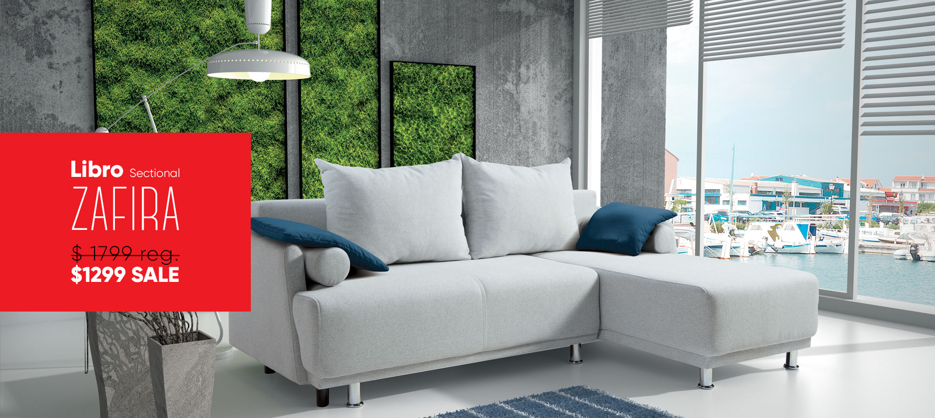 Libro Sectional Zafira 2FBAL-OTR - now on sale - Online store Smart Furniture Mississauga