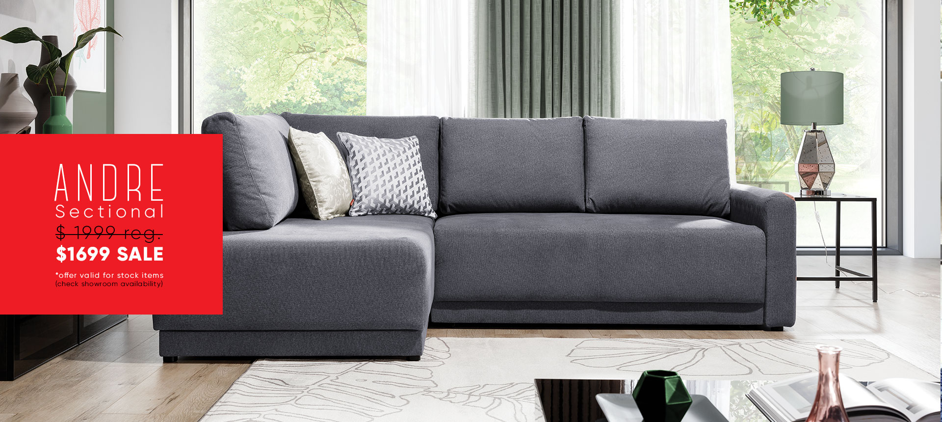 Andre sectional - $1699 sale - Online store Smart Furniture Mississauga