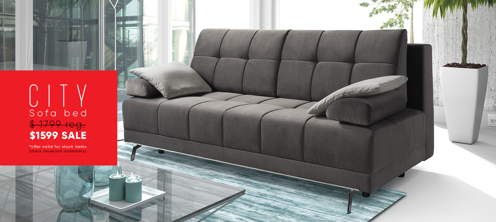 City Sofa Bed - $1599 sale - Online store Smart Furniture Mississauga