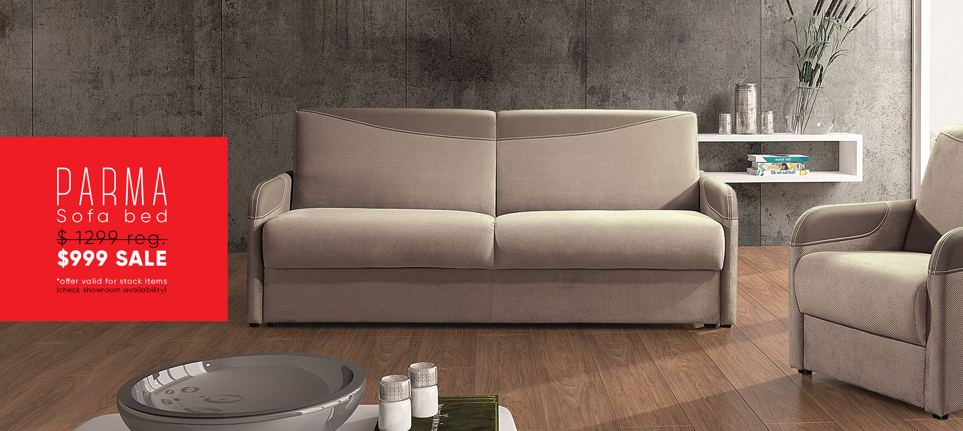 Parma Sofa Bed - $1599 sale - Online store Smart Furniture Mississauga