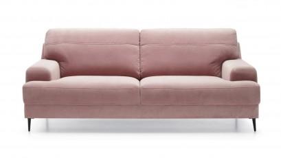 Gala Collezione Sofa and Ottoman Monday - Set: 3 seater sofa + ottoman (stain-resistant fabric)