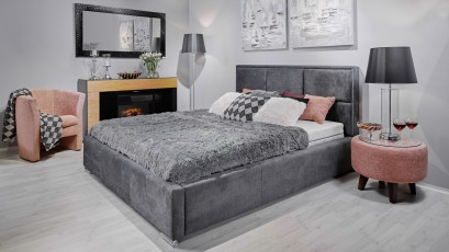 Hauss Storage Bed Costa - Upholstered storage bed