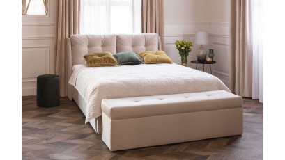 Hauss Storage Bed Novio Slim - Upholstered storage bed