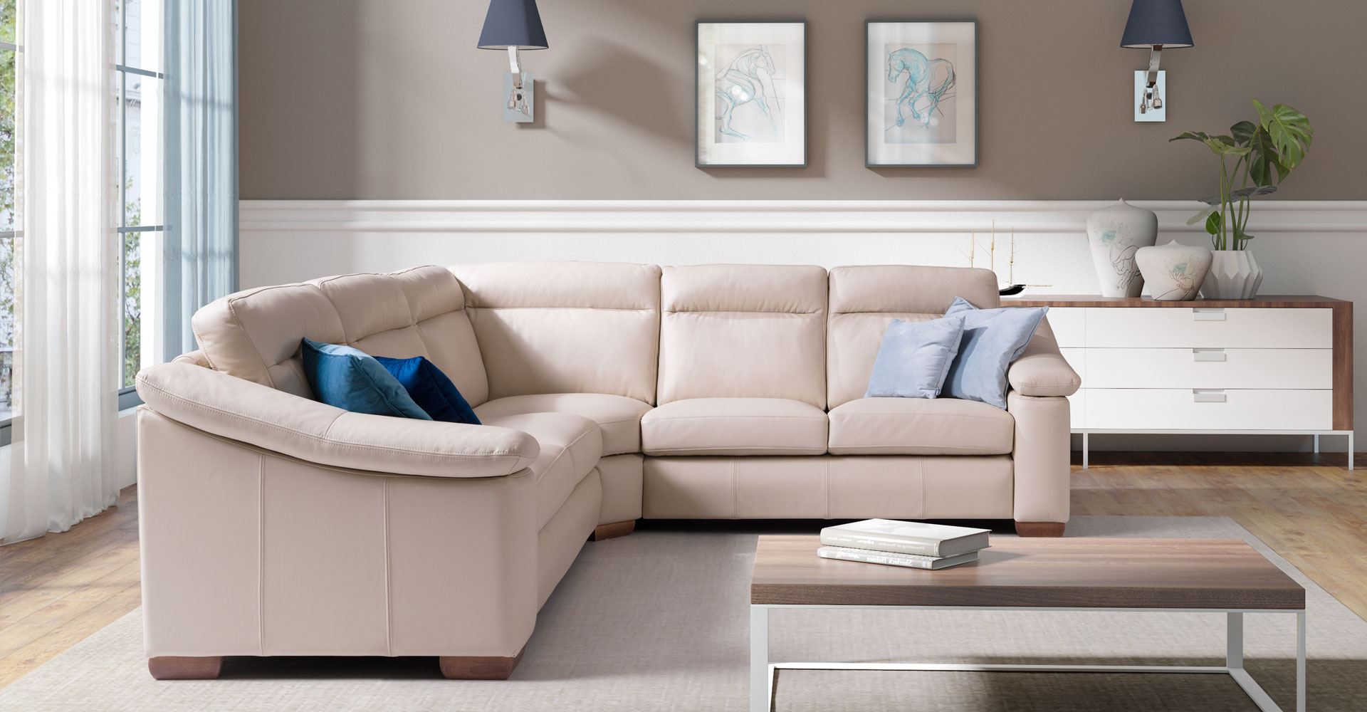 Italian genuine leather – choose your own. Types and colours. - get inspired by Smart Furniture online store