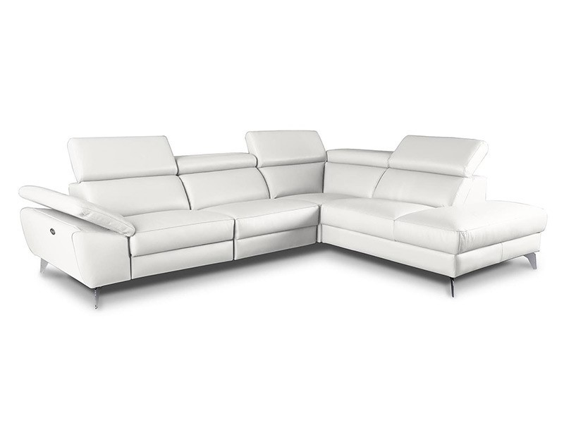 Des Sectional Panama - Dollaro Bianco - Sofa with power recliner