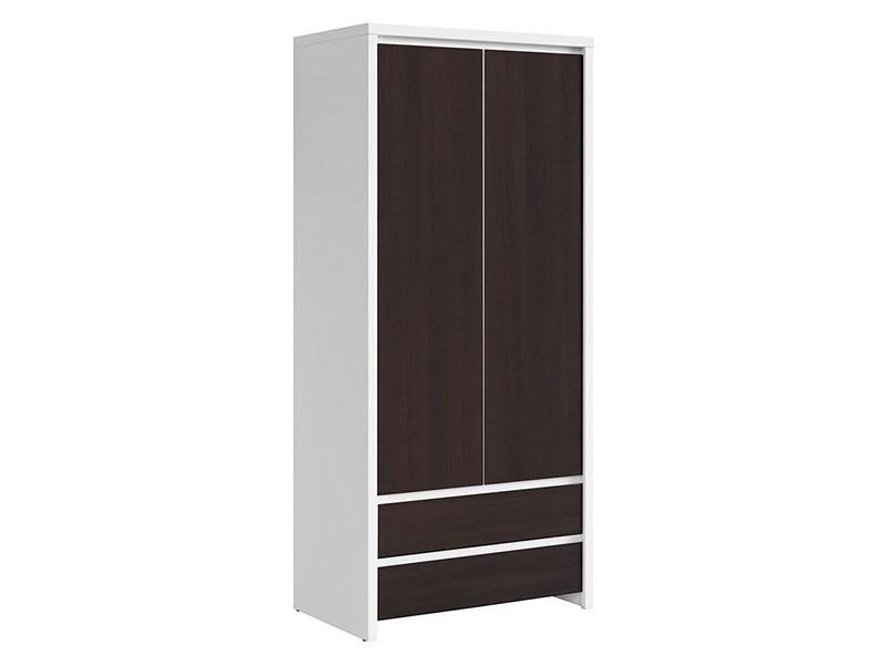 Kaspian White + Wenge 2 Door Wardrobe - Contemporary furniture collection