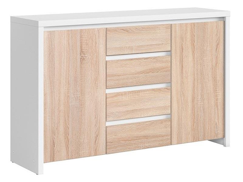 Kaspian White + Oak Sonoma Dresser - Versatile storage solution