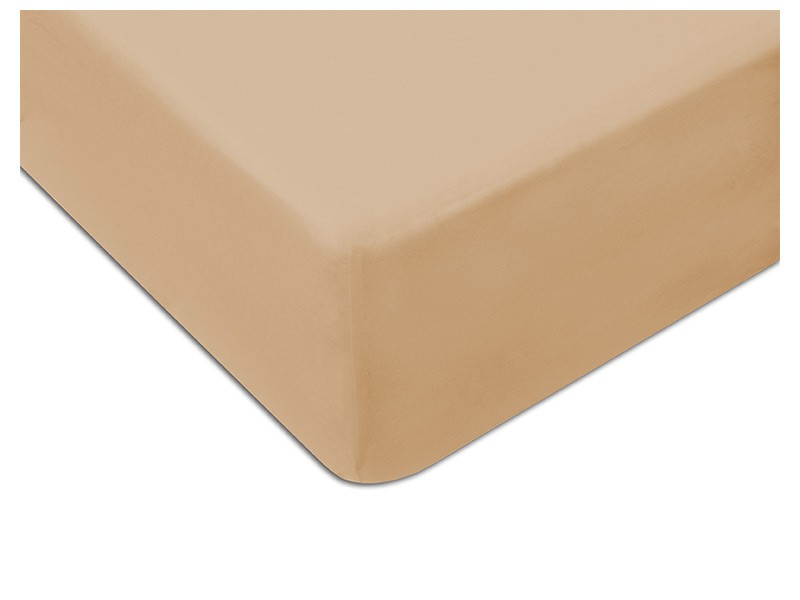 Darymex Jersey Fitted Bed Sheet - Light Brown - Europen made