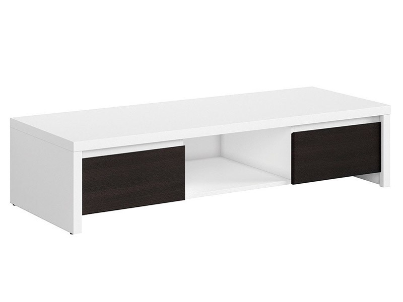 Kaspian White + Wenge Tv Stand - Contemporary furniture collection