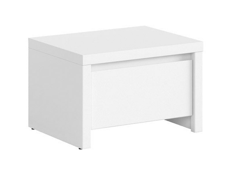 Kaspian White Nightstand - Contemporary furniture collection