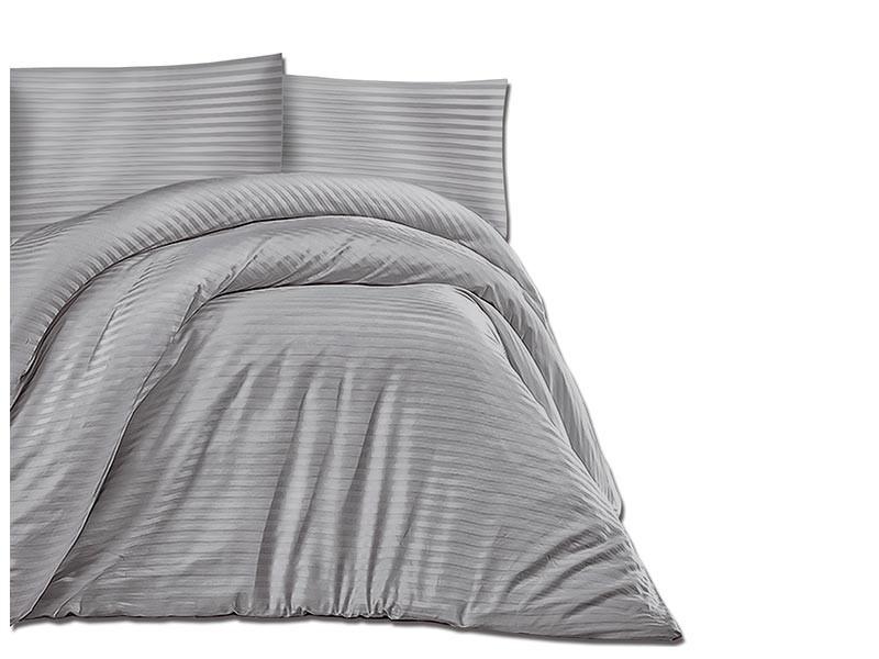 Darymex Cotton Duvet Cover Set - Cizgili Grey - Europen made