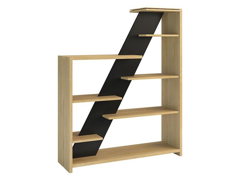 Mebin Rossano Freestanding Bookshelf Oak Bianco - High-quality European furniture