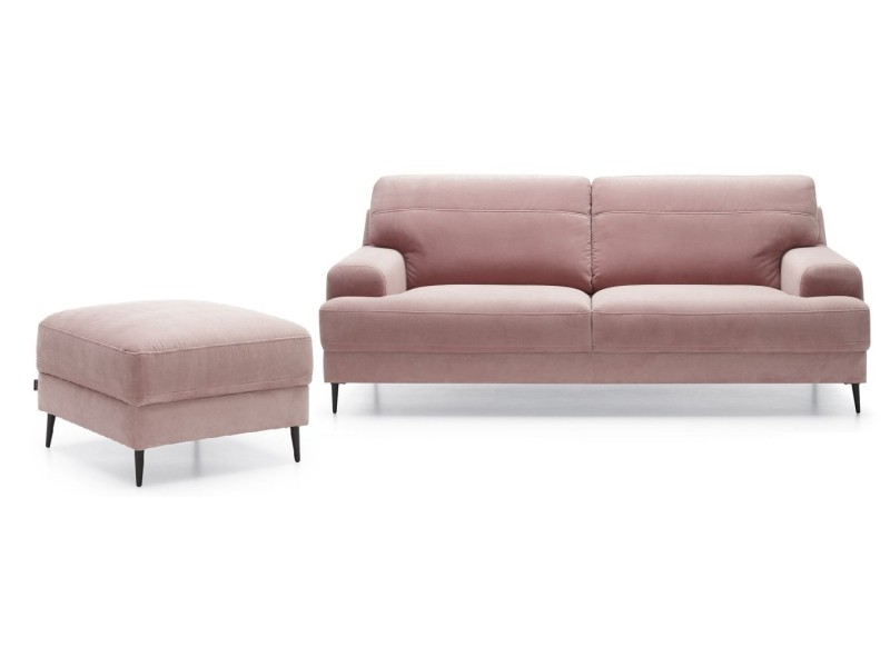 Gala Collezione Sofa and Ottoman Monday - Set: 3 seater sofa + ottoman (stain-resistant fabric)