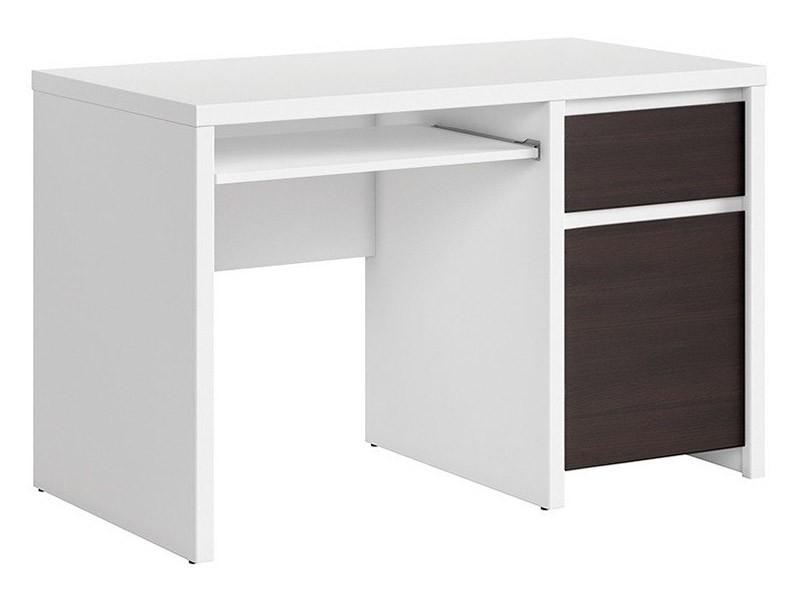 Kaspian White + Wenge Desk 120 - Sturdy desk