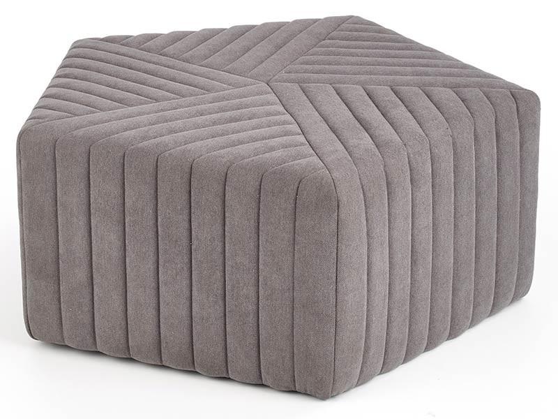 Halmar Hexa Grey Ottoman - Large pouf
