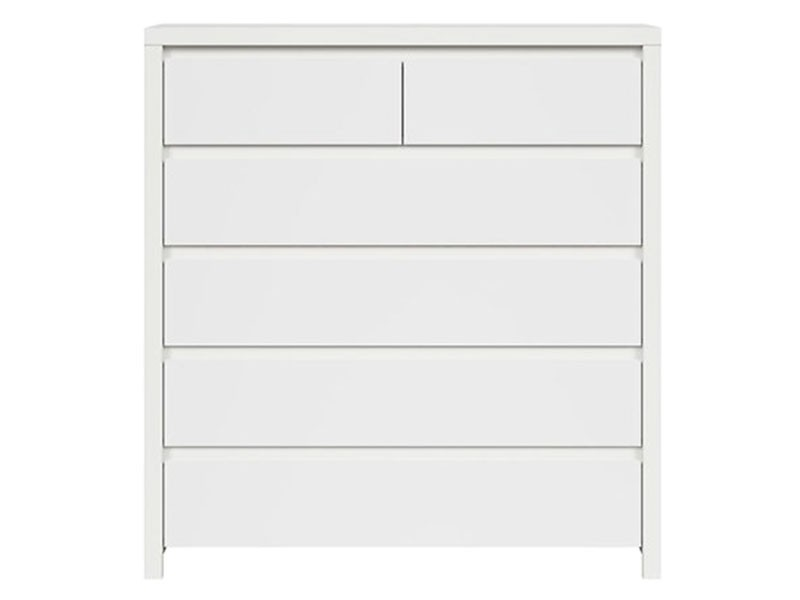 Kaspian White 6 Drawer Dresser - Contemporary furniture collection