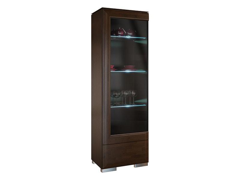 Mebin Rossano Display Cabinet Left Oak Notte - High-quality European furniture