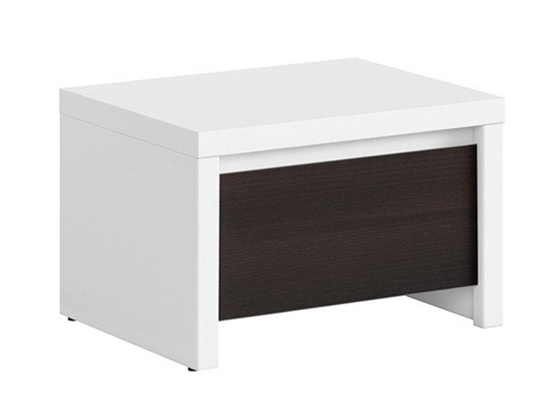 Kaspian White + Wenge Nightstand - Contemporary furniture collection
