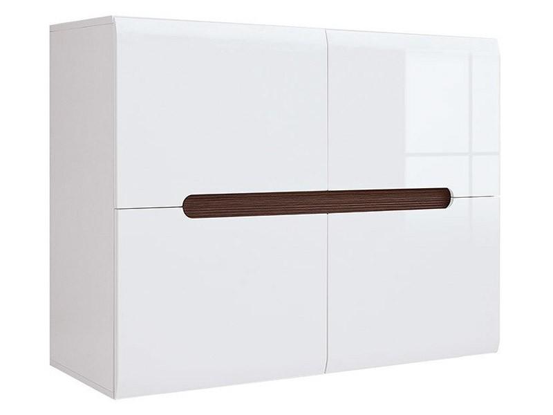 Azteca Trio 4 Door Storage Cabinet - Glossy white cabinet