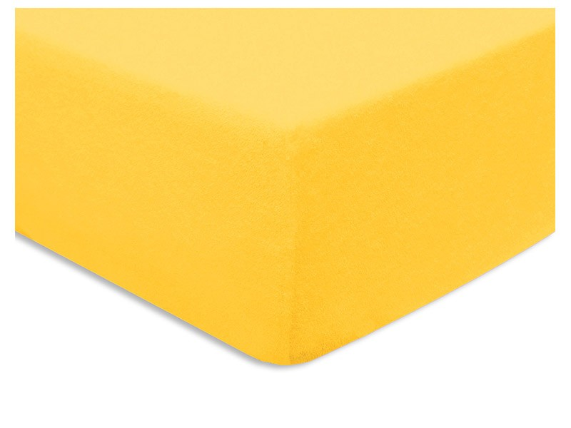 Darymex Terry Fitted Bed Sheet - Yellow - Europen made