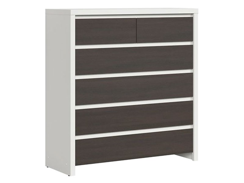Kaspian White + Wenge 6 Drawer Dresser - Contemporary furniture collection