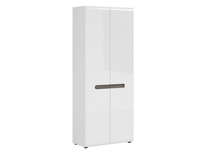 Azteca Trio 2 Door Storage Cabinet - Glossy white cabinet