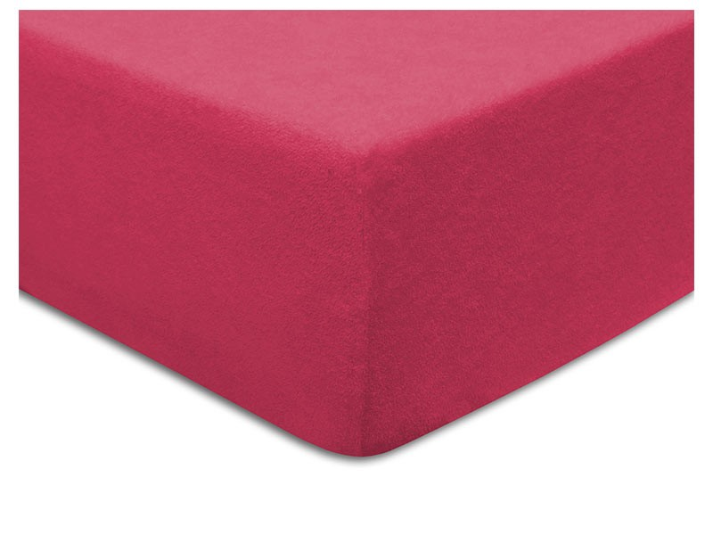 Darymex Terry Fitted Bed Sheet - Fuchsia - Europen made