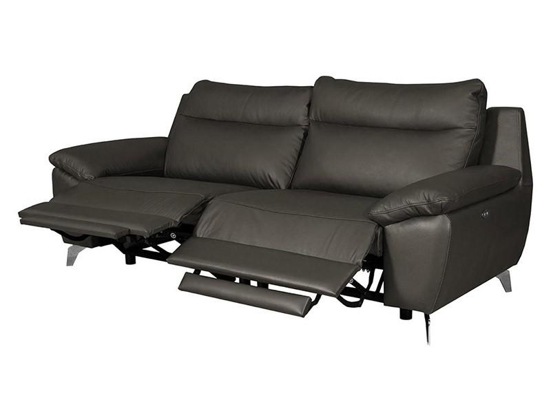 Des Sofa Perle 2,5TVE - Dollaro Anthracite - Double power recliner