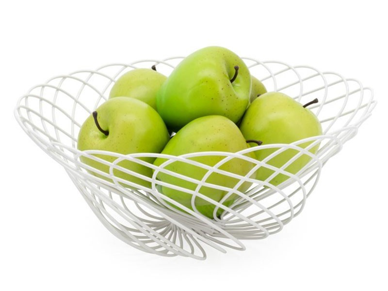 Torre & Tagus Spiro Basket - Wire Fruit Basket