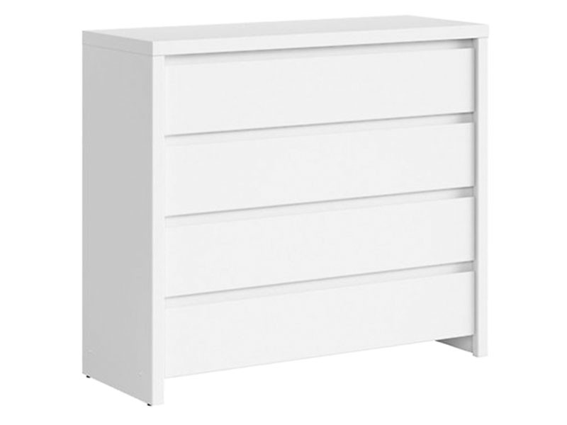 Kaspian White 4 Drawer Dresser - Contemporary furniture collection