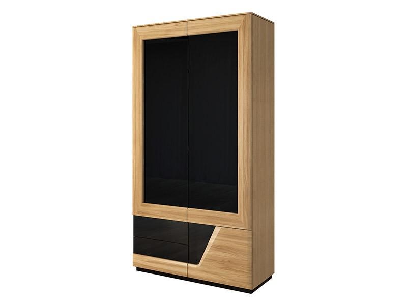 Mebin Smart Wardrobe Right Natural Oak - Solid oak fronts