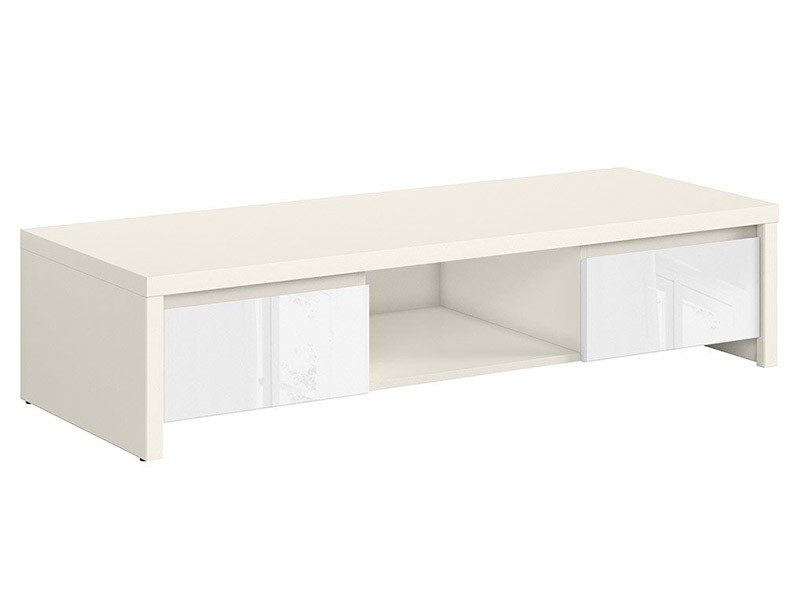 Kaspian White Matte + Glossy Tv Stand - Contemporary furniture collection