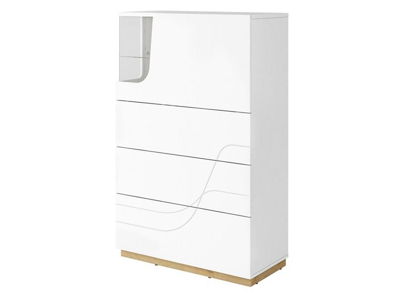 Lenart Bar Cabinet Wave WA-06 - Versatile piece - dresser, display, bar - all in one