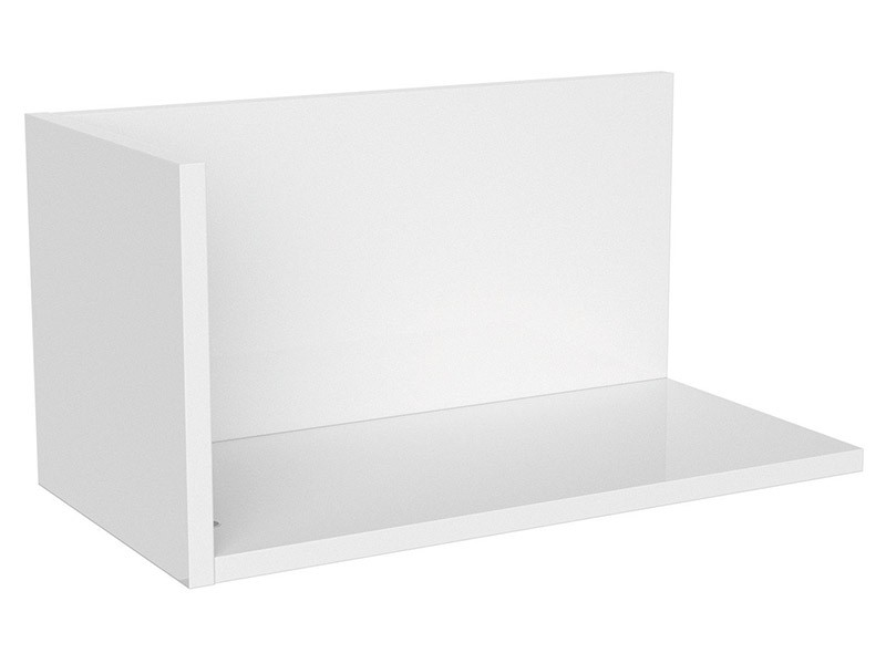 Princeton Hanging Shelf L Glossy White - Modern youth furniture