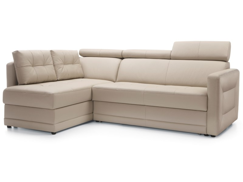 Sweet Sit Sectional Eden - Leather G-200 - Compact sectional with bed and storage
