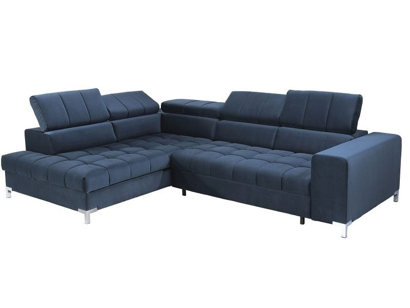 Libro Sectional Arte - Matt Velvet 79 - Modern sectional with bed and storage
