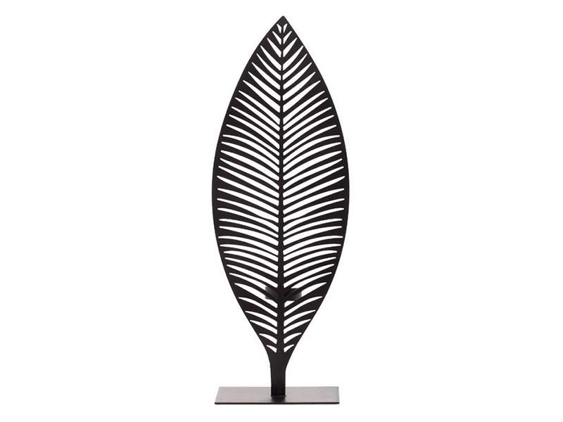 Torre & Tagus Leaf Cutout Screen Tealight Holder - Palm leaf candle holder