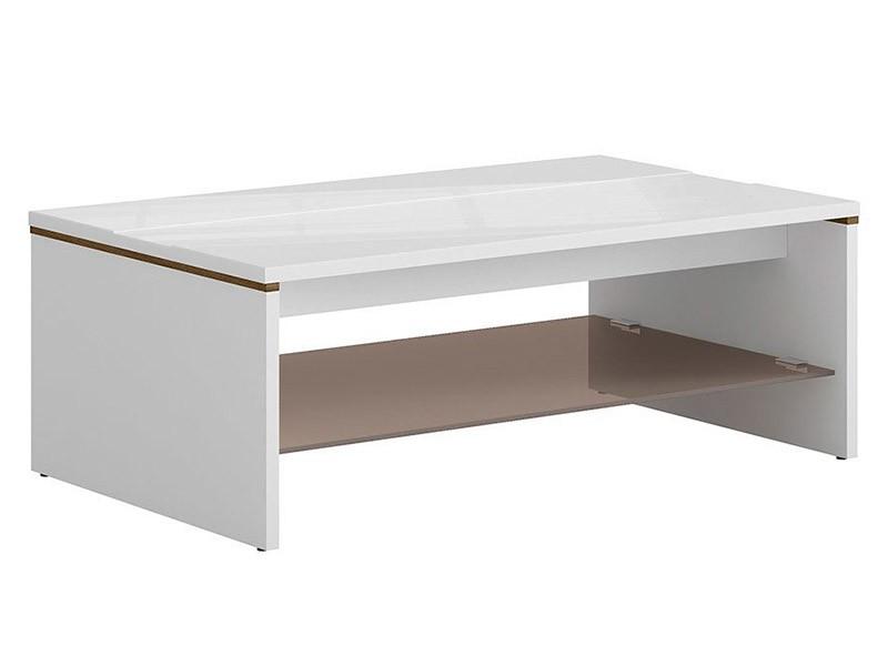 Azteca Trio Coffee Table - Glossy white centrepiece