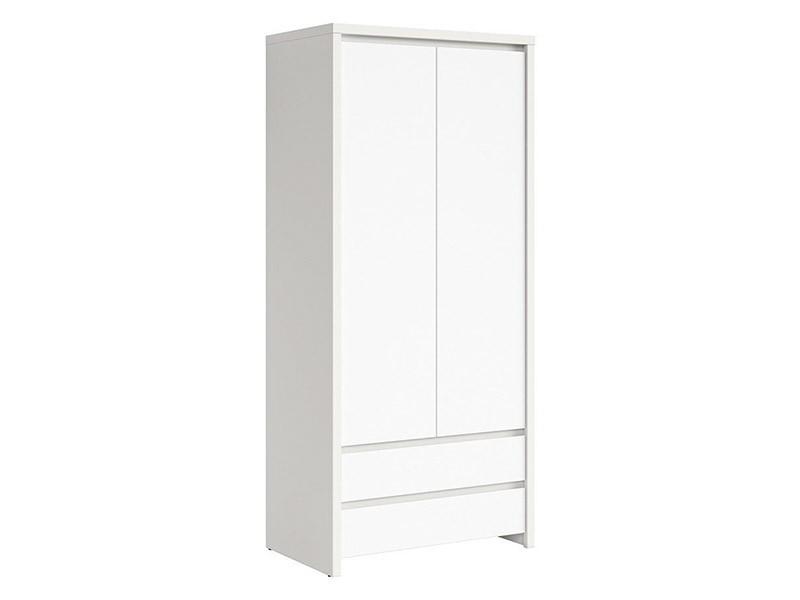 Kaspian White 2 Door Wardrobe - Contemporary furniture collection