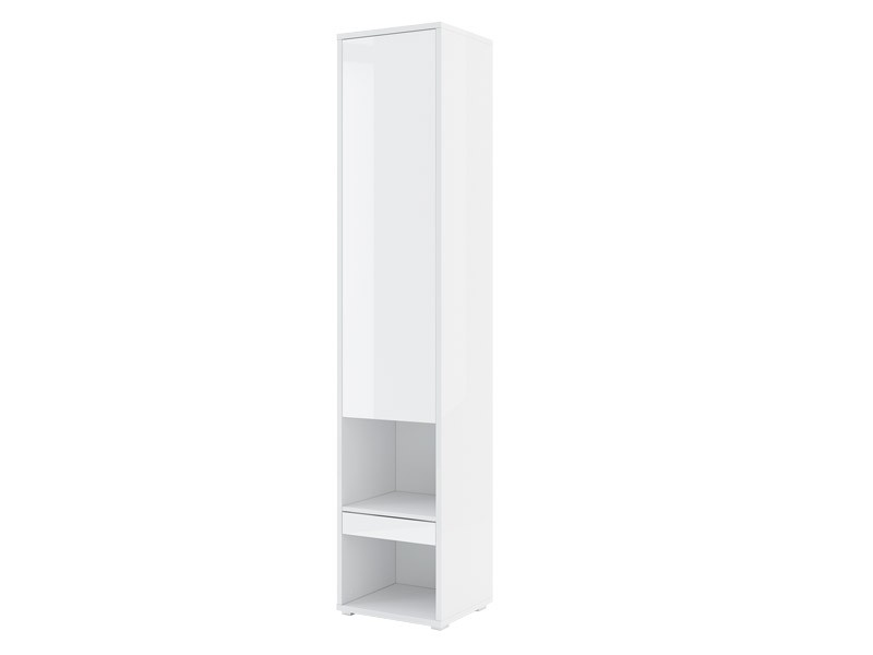 Bed Concept Storage Cabinet BC-07p - Glossy white narrow cabinet