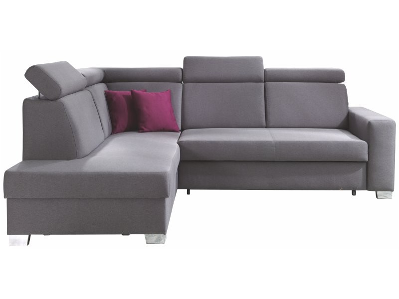 Wajnert Sectional Focus - Modern sectional with adjustable headrests, bed and storage