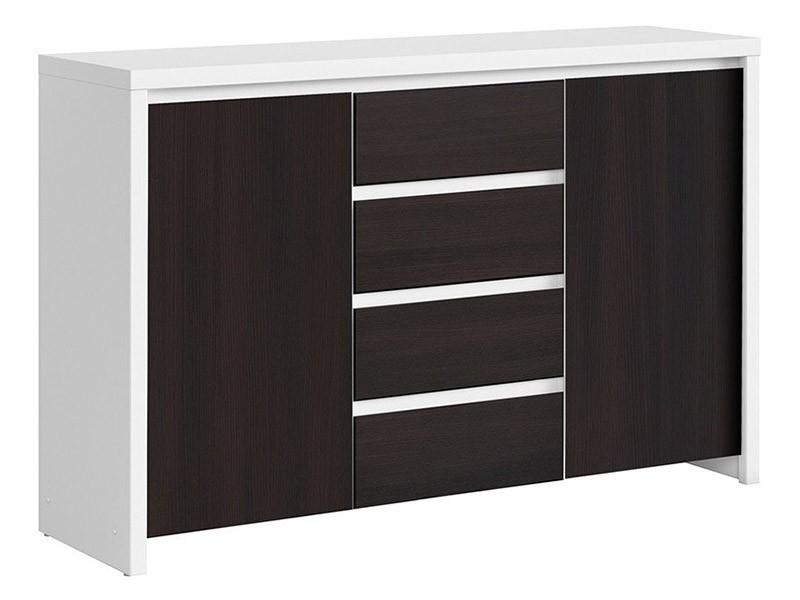 Kaspian White + Wenge Dresser - Versatile storage solution