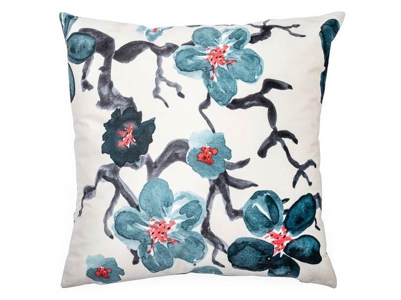 Torre & Tagus Sakura Cream Velvet - Accent Cushion