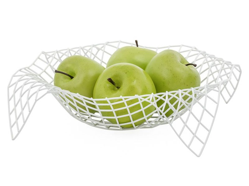 Torre & Tagus Matrix Metal Fruit Basket - Modern table decor