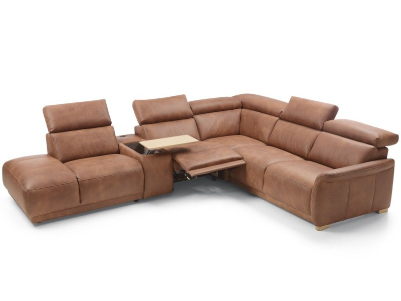Gala Collezione Sectional Calpe - Sectional with a bed, storage, power recliner and bar