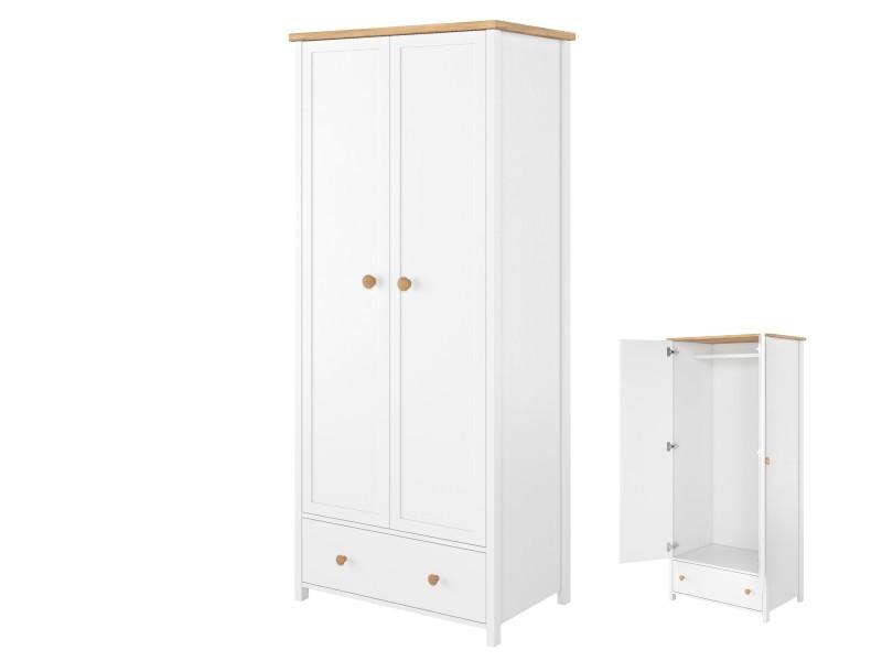 Lenart Wardrobe Story SO-01 - 2-door, 1-drawer, 1-rod wardrobe