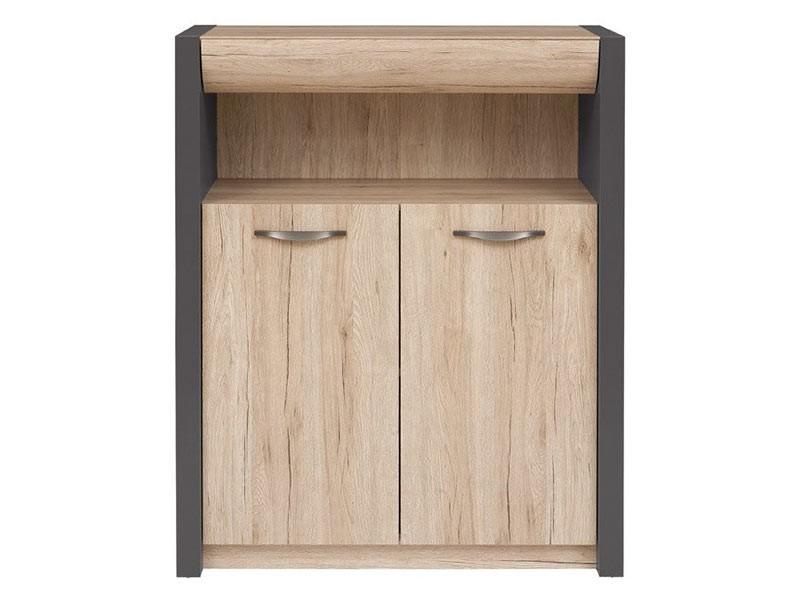 Executive 2 Door 1 Drawer Storage Cabinet - Contemporary solution