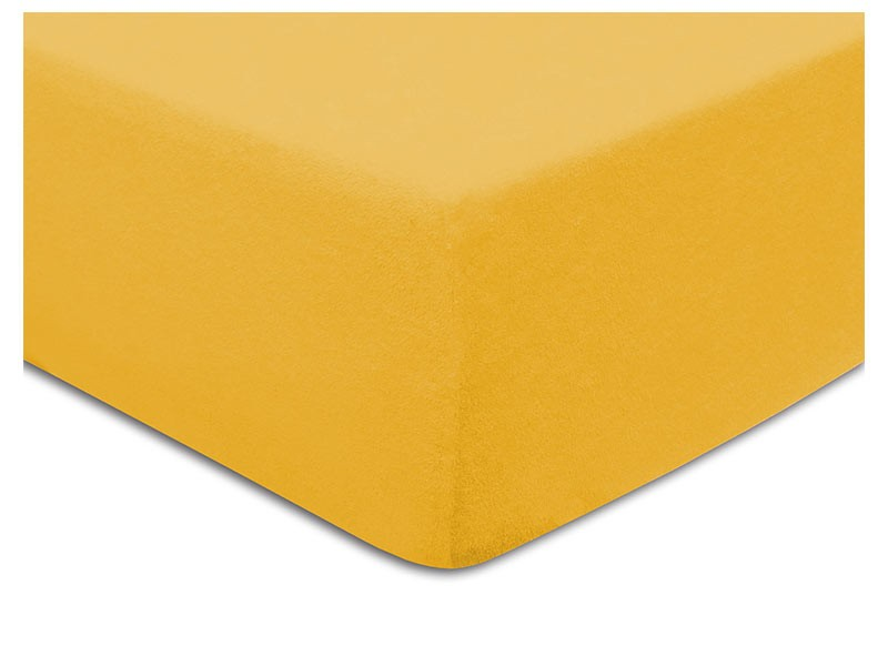 Darymex Terry Fitted Bed Sheet - Egg Yolk - Europen made