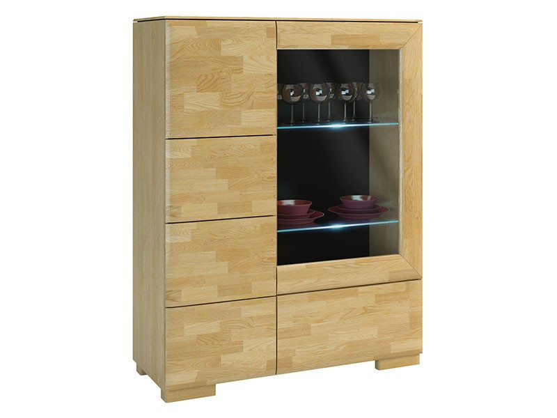 Mebin Rossano Bar Cabinet Oak Bianco - High-quality European furniture