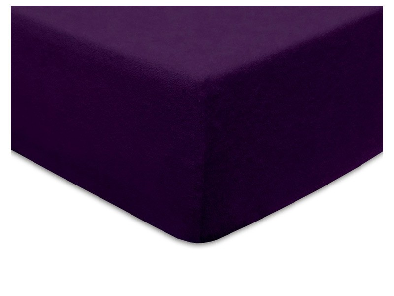 Darymex Terry Fitted Bed Sheet - Purple - Europen made